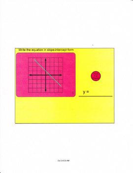 Smartboard lesson for slope intercept form