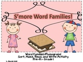 Smore Rimes!!  Word Families ab, am, an, ap, at Activity Packet