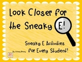 Sneaky E Activity Packet