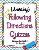 {Sneaky} Following Directions Quizzes