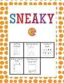 Sneaky e Phonics Packet