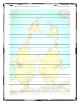 Sneetches Writing Template
