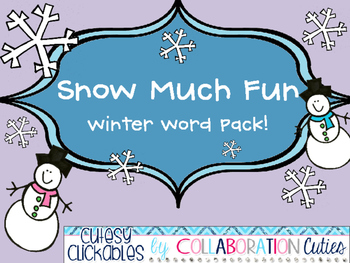 Snow Much Fun Winter Word Pack
