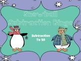 Snowball Subtraction to 20 Bingo