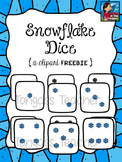 Snowflake Dice Clipart Freebie