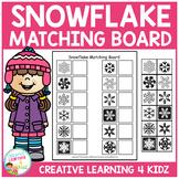 Snowflake Matching Board  Winter Autism
