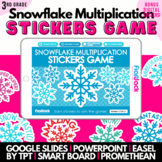 Snowflake Multiplication Facts SMART BOARD Game - FREE