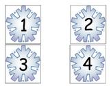 Snowflake Number Cards/Calendar Cards