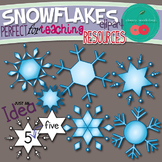 Snowflakes Clip Art-Perfect for Teaching Resources{Commerc