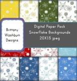 Snowflakes Digital Paper Pack