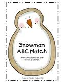 Snowman ABC Match
