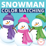 Snowman Color Match Activity Cards for Preschool and Early