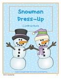 Snowman Dress-Up: Contraction Match