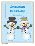 Snowman Dress-Up: Contraction Match