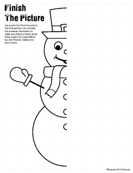 Snowman - Finish the Picture (Symmetry)