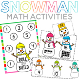 Snowman Math Centers