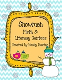 Snowman Math & Literacy Centers