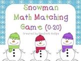 Snowman Math Matching Game (0-20)