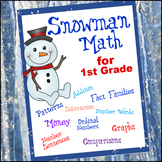 Snowman Math for 1st Grade