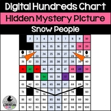 Snowman Snow People Hundreds Chart Hidden Picture Activity