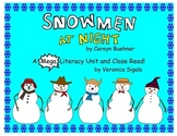Snowman. Snowmen at Night.  A Snowman Close Read and Commo