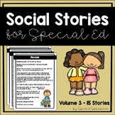 Social Stories Bundle 3! {15 Social Stories for Students w