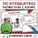 Social Story: No interrupting!  We give friends a turn to talk.