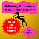 Following Verbal Directions Social Story and Activity