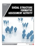 Social Structure Formative Assessment Activity