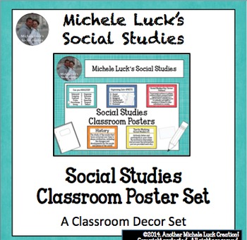 ocial Studies Classroom Posters for Bulletin Board or Word Wall Set