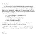 Social Studies: Creating a Timeline Project (Parent Letter)