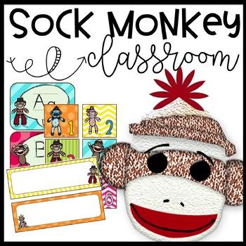 Sock Monkey Funky Classroom Theme Pack