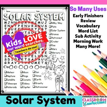 Solar System Word Search