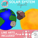 Solar system and outer space clipart