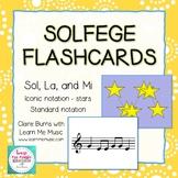 Solfege Sightreading Cards - Sol, La, Mi (Conversational Solfege)