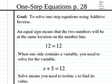 Solve Equations