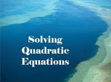 Solve Quadratic Equations Powerpoint 50 slides