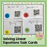 Solving Linear Equations - Task Cards With QR Codes