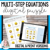 Solving Multi Step Equations Puzzle