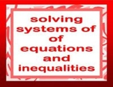 Systems of Equations and Inequalities- jeopardy style game