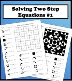 Solving Two Step Equations Color Worksheet Practice 1