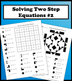 Solving Two Step Equations Color Worksheet Practice 2