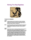 Solving Two-Step Equations (Two Lesson Plans)