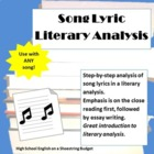 Song Lyric Literary Analysis, Step by Step Process