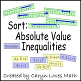 Sort:Absolute Value-Compound Inequality-Graphs-Review Activity