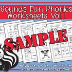Sounds Fun Phonics Workbook Vol. 1 Sample