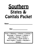 Southern States and Capitals Review Packet