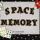 Space Memory (Numbers 1-10) FREE