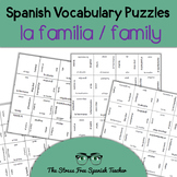 Spanish Family Vocabulary, Magic Squares Puzzle