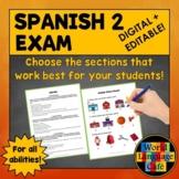 Spanish 2 (Intermediate) Final Exam